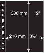 Pochettes plastiques GRANDE, 1 compartiment, noir de Leuchtturm