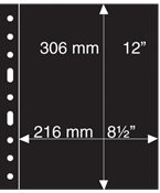 Grande A4 lommer - 1 S - Sort - Pakke med 5 stk. -Leuchtturm