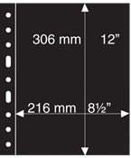 Grand A4 活页护袋,一整页,黑色,每包5页