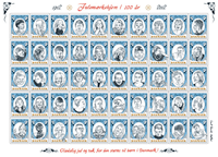 Danmark - Julemærket 2012 - Postfrisk selvkl. ark