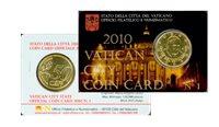 Vaticano - Tarjeta con moneda 2010