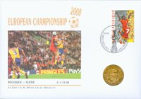 Belgio - busta fil. num. Europei 2000