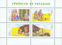 Turquie - Personnes Yuruk - Bloc-feuillet neuf