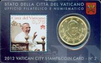 Vatican - Centenaire du Pape - Carte avec monnaie