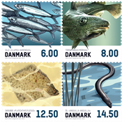 Danemark - Poissons - Série neuve 4v