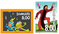 Danmark - Børne TV - Postfrisk sæt 2v