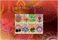 Singapore - Festivals - special sheetlet - Mint sheetlet