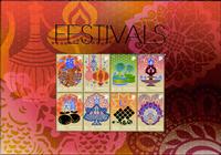 Singapore - Festivaller specialark - Postfrisk ark