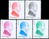 Monaco - Prince Albert New Definitives - Mint set 5v engraved by Martin Mörck