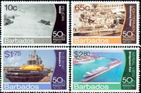 Barbados - Bridgetown Havn - Postfrisk sæt 4v