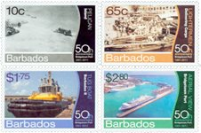 Barbades - 50 ans du port de Bridgetown - Série neuve 4v
