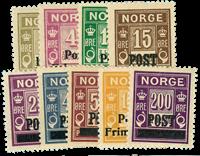 Norge 1929 - AFA nr.139-47 - Postfrisk