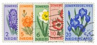 Holland 1953 - NVPH 602-606 - Stemplet