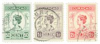Curacao - Reine Wilhelmina 1916 - Nos 68-70 - Oblitéré