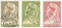 Curacao - Reine Wilhelmina 1936 - Nos 135-137 - Oblitéré