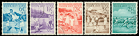 Curacao - 1951 (234-238) - Stemplet