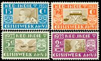 Nederland Indië - A.M.V.J-serie 1933, (nr. 182-185, postfris)