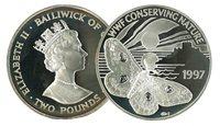 Guernesey - Saturniidae WWF - Belle monnaie en argent proof avec certificat d'authenticité et texte