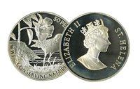 Ste Hélène - Pluvier WWF - Belle monnaie en argent proof avec certificat d'autenticité et texte