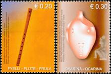 Kosovo - Musikinstrumenter - Postfrisk sæt 2v
