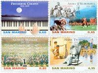 Saint Marin - Artistes célèbres - Série neuve 4v