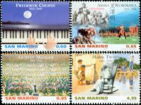 San Marino - Kunstnere - Postfrisk sæt 4v