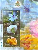 Saint Marin - Fleurs - Bloc-feuillet neuf
