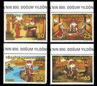 Tyrkiet - Tegneserie - Postfrisk sæt 4v
