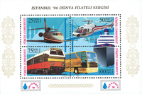 Tyrkiet - Transport - Postfrisk miniark overtryk