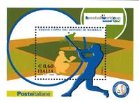 Italien - Baseball VM - Postfrisk miniark