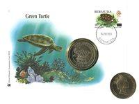 Bermudes - Tortue WWF - Belle enveloppe philatélique-numismatique