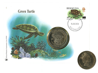 Bermudes - Tortue WWF - Belle enveloppe philatélique-numismatique