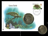 Bermuda - Skildpadde WWF - Flot møntbrev