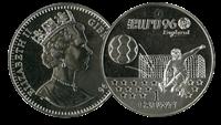 Gibraltar fodbold mønt 1996