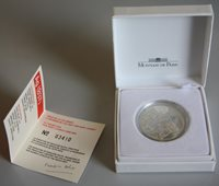France YSL monnaie en argent 10 F dans écrin, belle épreuve