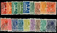 Tweezijdige roltanding 1925 - Nr. R1-R18 - Gebruikt