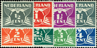 Nederland - Vliegende Duif met watermerk (nr. 169-76, postfris)