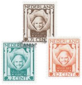 Holland 1924 - NVPH 141-143 - Ubrugt