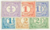 Holland 1899-1913 - NVPH 50-55 - Ubrugt