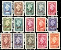 Suriname 1945 - 229-243 specimen