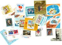 20 cancelled souvenir sheets from Romania