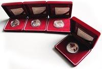 Corea del Sud - 4 monete d'argento (I)