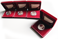 Korea 4 Zilveren munten I