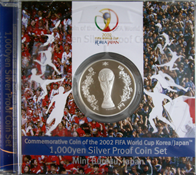 Giappone 2002 - moneta d'argento Mondiali Calcio