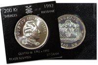 Sverige - Gustav III's død 200 år - Sølvmønt