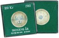 Sverige mønt skovens år 1985