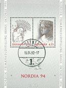 Danmark - Nordia 94 miniark - stemplet