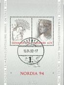 Denmark - Nordia 1994 - Cancelled souvenir sheets