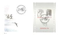 Danimarca 1992 - 'Nordia '94' - fogl. su busta primo giorno