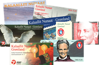 Greenland 8 booklets mint and cto